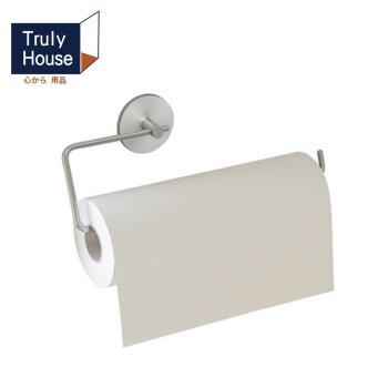 Truly House 免打孔304不鏽鋼長版紙巾架/廚房紙巾架/毛巾架/衛生紙架/無痕貼