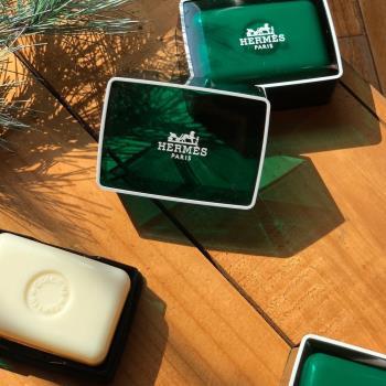 【Hermes 愛馬仕 】D'Orange Verte 橘綠之泉香皂 50g(含盒)x3入