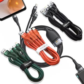 Baseus倍思 閃速三合一 5A快充傳輸充電線(Lightning/Micro USB/Type-C)-120cm