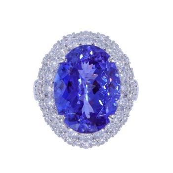 MYEZ GIA 11.57克拉天然丹泉石鑽戒(18K)