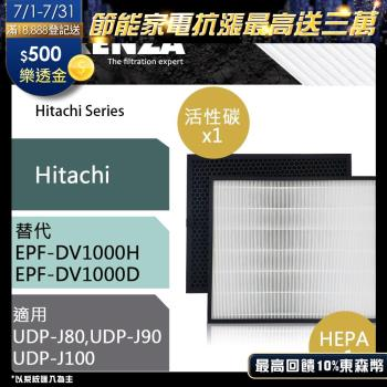 RENZA濾網 適用Hitachi日立UDP-J80 J90 J100 EPF DV1000 空氣清淨機 濾芯