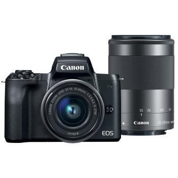 Canon EOS M50 II (M50 MARKII) 15-45mm+55-200mm 雙鏡組 (公司貨)