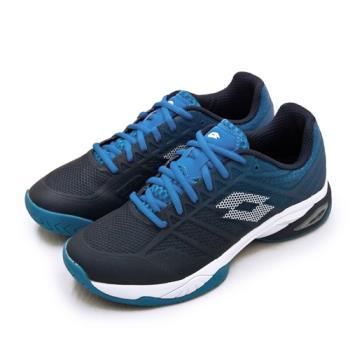 【LOTTO】男 進階旗艦級網球鞋 MIRAGE 300 II SPD系列 硬地(藍白 2136295YC)