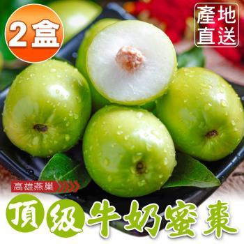 【高雄燕巢】產履認證頂級牛奶蜜棗禮盒20顆(5斤x2盒)