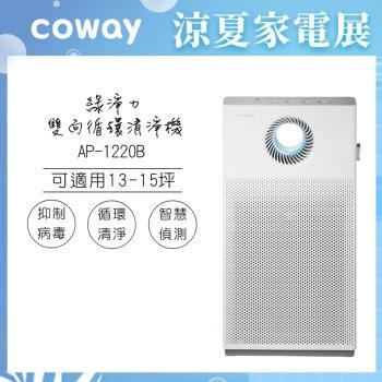 韓國Coway 15坪綠淨力雙向循環空氣清淨機AP-1220B-庫