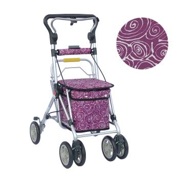 【Rollker羅克】步行輔助車 老人散步車 銀髮族 購物車 購物助行車 日本購物車(NO.335-意象紫)