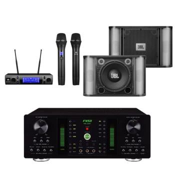 卡拉OK套組 FNSD A-250 擴大機+JBL VM300 無線麥克風+JBL RM10 卡拉OK喇叭