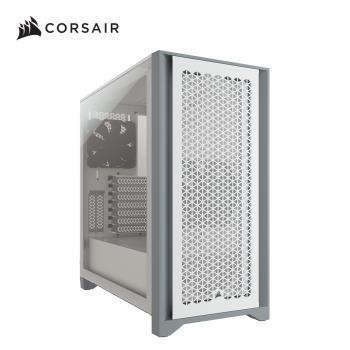 Corsair 海盜船 4000D Airflow鋼化玻璃中塔ATX電腦機殼—白色