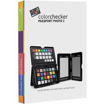 美國X-Rite攝錄影校色卡+白平衡卡+18%灰卡ColorChecker Passport Photo 2隨身色彩檢測護照II代 適校正顏色測光