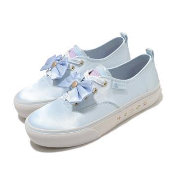 Skechers 休閒鞋 Bobs Marley 美少女戰士 女鞋 聯名款 光滑緞面鞋面 蝴蝶結 穿搭 藍 白 66666268LTBL