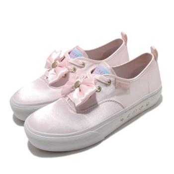 Skechers 休閒鞋 Bobs Marley 美少女戰士 女鞋 聯名款 光滑緞面鞋面 蝴蝶結 穿搭 粉 白 66666268LTPK