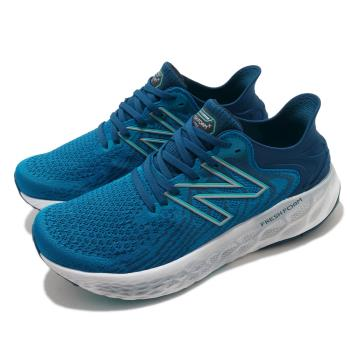 New Balance 慢跑鞋 1080v11 Wide 寬楦 運動 男鞋 紐巴倫 輕量 透氣 舒適 路跑 避震 藍 白 M1080S112E