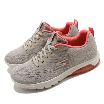 Skechers休閒鞋GoWalkAir健走女鞋郊遊戶外活動氣墊避震緩衝黃褐粉16098NTCL[ACS跨運動]