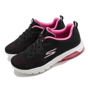 Skechers休閒鞋GoWalkAir健走女鞋郊遊戶外活動氣墊避震緩衝黑粉16098BKHP[ACS跨運動]