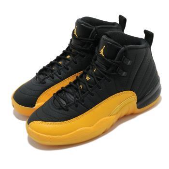 Nike 籃球鞋 Air Jordan 12 Retro 女鞋 經典 AJ12 復刻 明星款 穿搭 大童 黑 黃 153265070