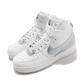 Nike 休閒鞋 Air Force 1 High 07 男鞋 經典 AF1 3M反光 高筒 球鞋 穿搭 白 銀 CU4159100