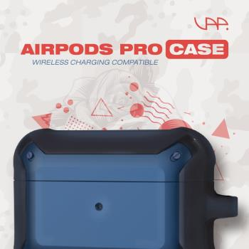 VAP Airpods pro 雙色軍規防摔殼(軍藍+霧黑)