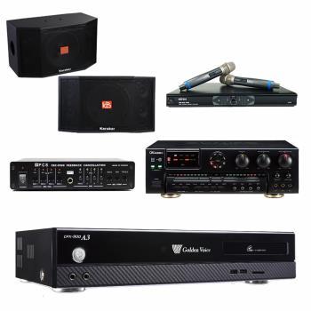 金嗓 CPX-900 A3伴唱機 4TB+OKAUDIO AK-7+MR-865 PRO+Karabar KB-4310M+FBC-9900