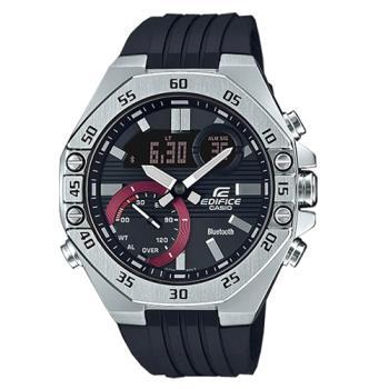 【CASIO 卡西歐】EDIFICE 藍牙智慧錶款 男錶 橡膠錶帶 防水100米(ECB-10P-1A)