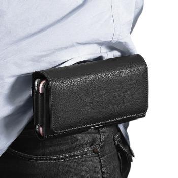 Xmart for SAMSUNG Galaxy S21/ S20 /S10+ 精美實用雙卡槽雙格手機橫式腰掛皮套