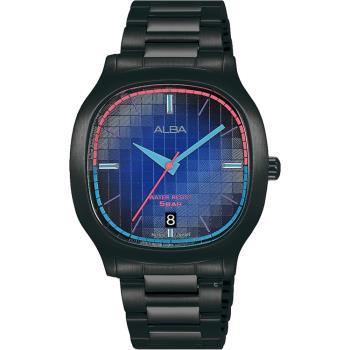 ALBA雅柏 方型復古休閒腕錶 VJ42-X308SD AS9L87X1