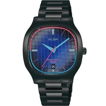 ALBA 雅柏 方型復古休閒腕錶(VJ42-X308SD)AS9L87X1