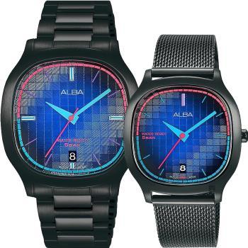 ALBA 雅柏 復古電視機 情侶手錶 對錶 VJ42-X308SD+VJ32-X312SD(AS9L87X1+AG8L09X1)