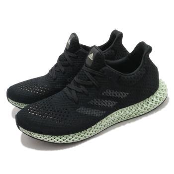 adidas 慢跑鞋 4D Futurecraft 運動 男鞋 愛迪達 輕量 透氣 舒適 避震 球鞋 黑 綠 FZ2560 [ACS 跨運動]