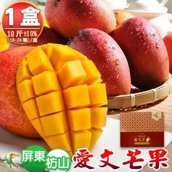 【禾鴻】產地直送枋山愛文芒果10斤18-24顆x1箱