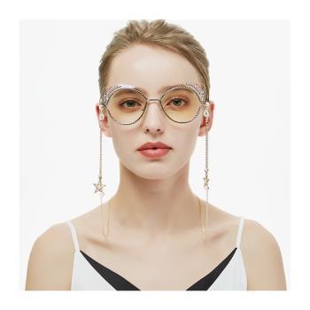 梨花HaNA  韓國水晶鑲鑽口罩項鍊多款.輕奢防丟防汙染口罩墨鏡鍊2用