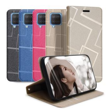 GENTEN for 三星 Samsung Galaxy M12 極簡立方磁力手機皮套