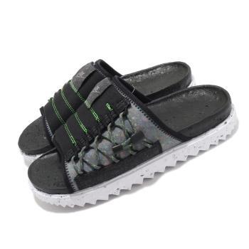Nike 拖鞋 Asuna Crater Slide 男鞋 夏日拖 輕便 環保回收材質 穿搭 黑 白 DJ4629002 [ACS 跨運動]