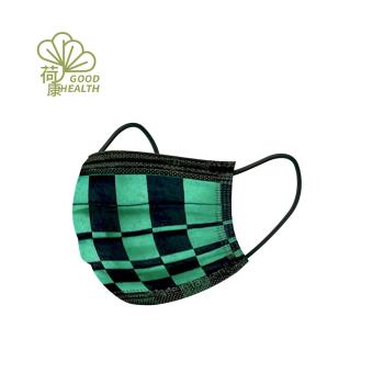 【荷康】醫用醫療口罩 雙鋼印 台灣製造_綠黑格紋(30/盒)
