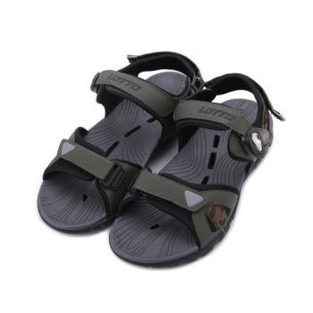 LOTTO 迷彩磁釦排水運動涼鞋 迷彩綠 LT1AMS3185 男鞋 鞋全家福