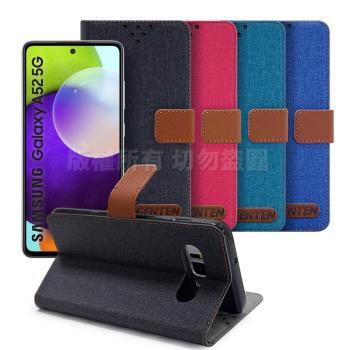 GENTEN for 三星 Samsung Galaxy A52 5G 自在文青風支架皮套