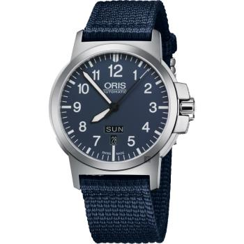 ORIS豪利時 BC3 Advanced 日曆星期機械手錶-藍/42mm 0173576414165-0752226