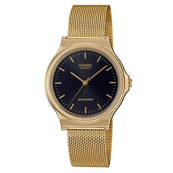 【CASIO 卡西歐】學生/青少年/業務 指定錶 米蘭錶帶 可調式錶扣(MQ-24MG-1E)