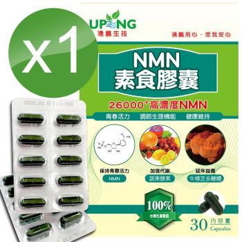 【湧鵬生技】高濃度NMN素食膠囊26000+1入組(NMN:藻精蛋白:每盒30顆:共30顆)