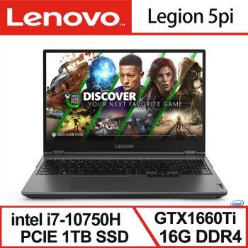 【Lenovo】Legion 5pi 15.6吋電競 黑 82AW002TTW(i7-10750H/16G/1TB SSD/GTX1660Ti-6G)