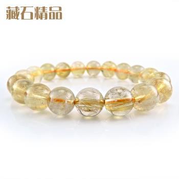 【藏石精品】5A級天然鈦晶手珠 10mm Z42