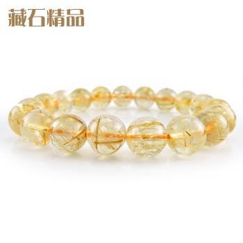 【藏石精品】5A級天然鈦晶手珠 10mm Z41