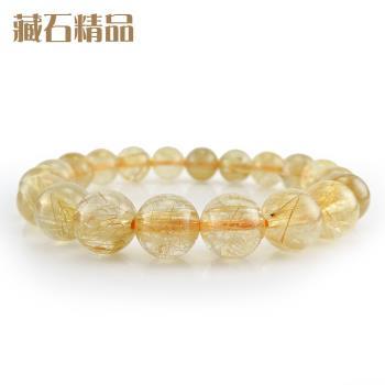 【藏石精品】5A級天然鈦晶手珠 10mm Z40
