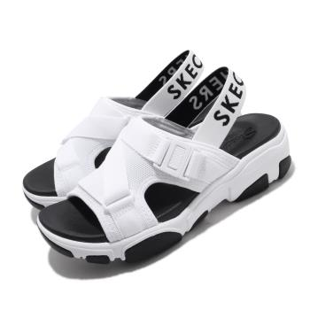 Skechers涼拖鞋Daddy-O-Dibs女鞋厚底增高鬆緊帶夏日穿搭透氣白黑163051WBK[ACS跨運動]