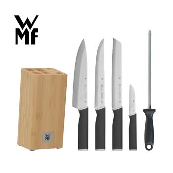 德國WMF KINEO 刀具六件套組(含刀座/磨刀器)