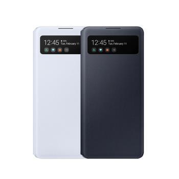 Samsung Galaxy A42 原廠 clear view 感應側翻皮套