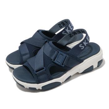 Skechers涼鞋DaddyODibs女鞋外出郊遊輕量避震緩衝織帶藍白163051NVY[ACS跨運動]
