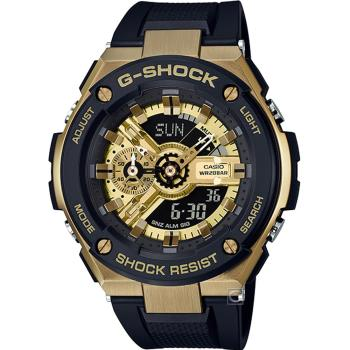 CASIO G-SHOCK G-STEEL分層防護耐衝擊構造手錶(GST-400G-1A9)