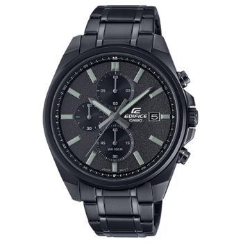 【CASIO 卡西歐】EDIFICE 三眼 指針男錶 不鏽鋼錶帶 防水100米(EFV-610DC-1A)