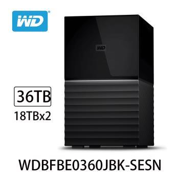 WD威騰 My Book Duo 36TB(18TBx2)USB3.1 3.5吋雙硬碟儲存 WDBFBE0360JBK-SESN
