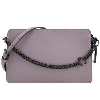 COACH 89292 Signature Chain 撞色風琴鍊包.紫
